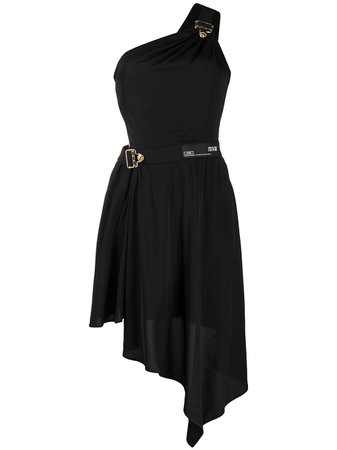 Versace Jeans Couture One-Shoulder Cut Out Dress Ss20   Farfetch.com