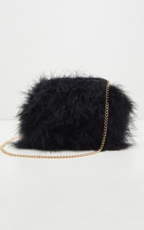 Black Marabou Feather Clutch Bag. Accessories | PrettyLittleThing