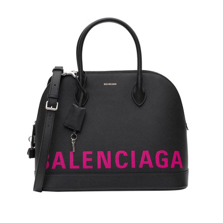 Hot Pink Logo Handbag by Balenciaga - Fizzm