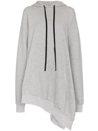 Unravel Project Asymmetric Cotton Hoodie Dress - Farfetch