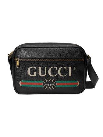 Gucci Bolsa Carteiro De Couro Com Logo - Farfetch