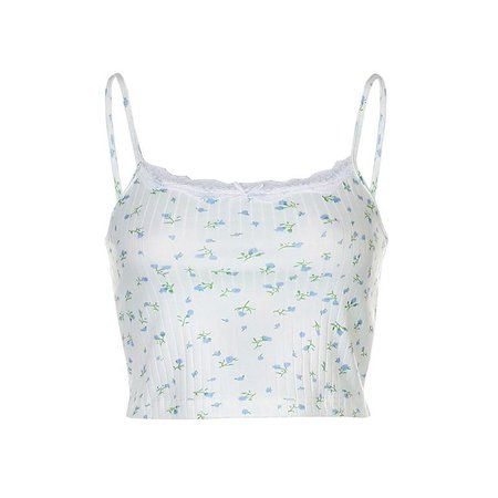 Puffie Floral Camisole Top | YesStyle