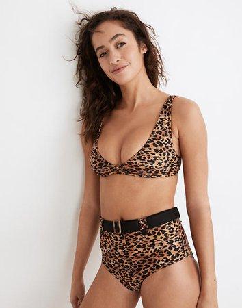 Solid & Striped® Annie Bikini Top in Leopard Print