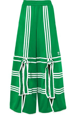 adidas Originals | + Ji Won Choi striped satin-jersey track pants | NET-A-PORTER.COM