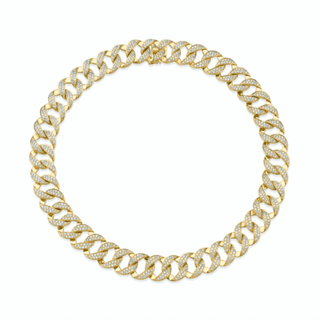 All-diamond chain link choker - Anita Ko