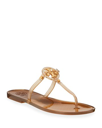 Tory Burch Mini Miller Flat Thongs | Neiman Marcus
