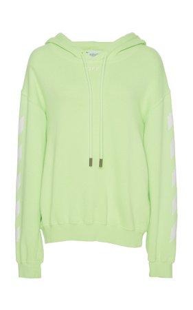 Logo Knit Cotton Sweatshirt by Off-White c/o Virgil Abloh   Moda Operandi