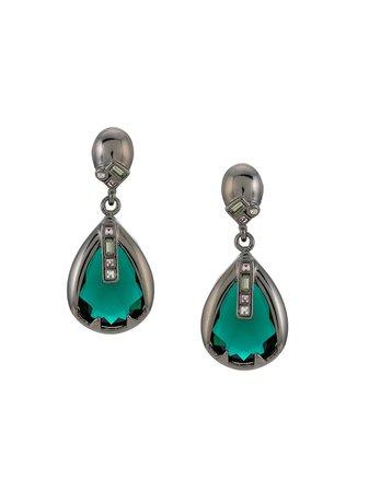 Black Camila Klein Drop Earrings | Farfetch.com