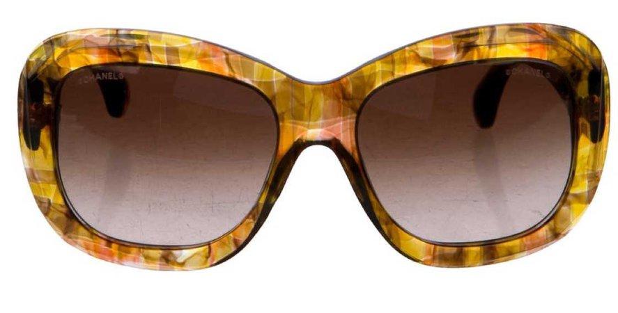 chanel marbrée sunglasses