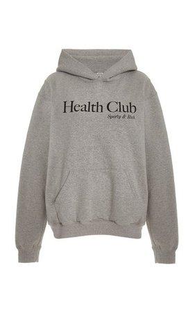 Health Club Cotton Sweatshirt By Sporty & Rich | Moda Operandi