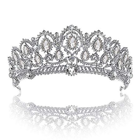 Amazon.com : Crown, Tiara, YallFF Prom Queen Crown Quinceanera Pageant Crowns Princess Crown Rhinestone Crystal Bridal Crowns Tiaras for Women : Beauty