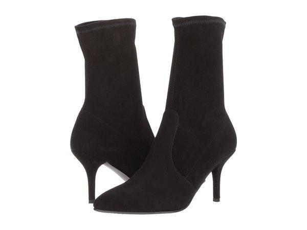 Stuart Weitzman - Cling (Black Suede) Women's Boots