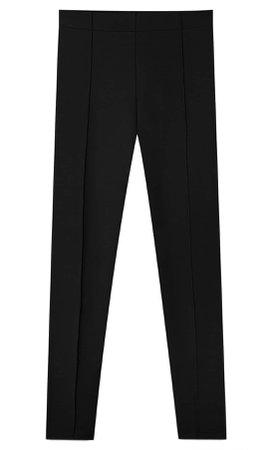 black High-waist leggings - Women's Just in | Stradivarius United States