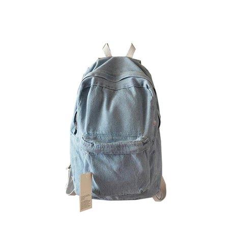 Gillberry  Unisex Denim Travel Backpack Bag School bag Rucksack Casual Retro Bag (Light Blue) ($12.99)