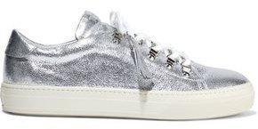 Metallic Pebbled-leather Sneakers