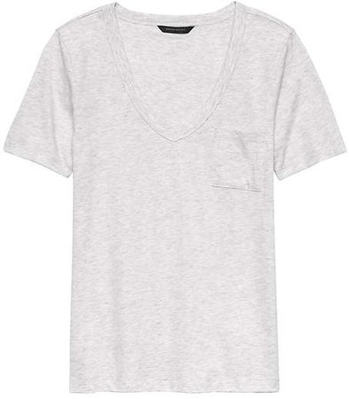 SUPIMA® Cotton Pocket V-Neck T-Shirt