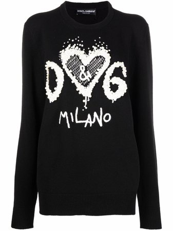 Dolce & Gabbana logo-embroidered Knitted Jumper - Farfetch