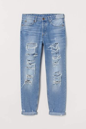 Boyfriend Low Jeans - Blue