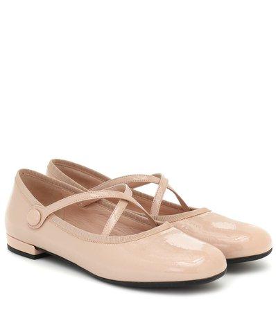 Miu Miu - Patent-leather ballet flats   Mytheresa