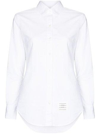 Thom Browne grosgrain-loop long-sleeve Shirt - Farfetch