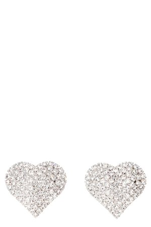 Alessandra Rich Faba Maxi Earrings With Crystals
