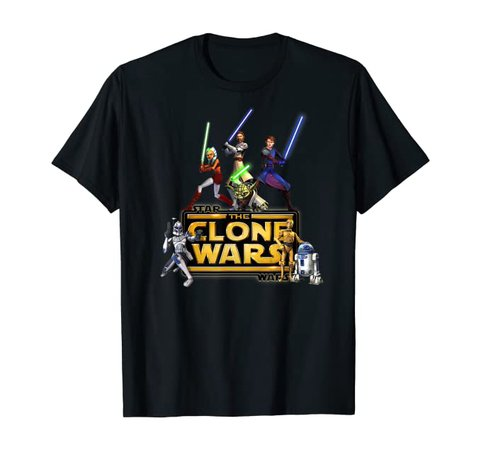 Amazon.com: Star Wars The Clone Wars Jedi Warriors T-Shirt: Clothing