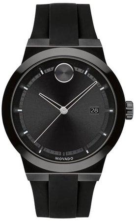 Bold Fusion Silicone Strap Watch, 42mm