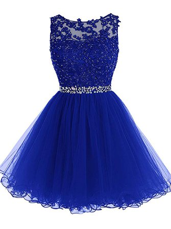 Amazon.com: Tideclothes ALAGIRLS Short Beaded Homecoming Dress Tulle Lace Applique Prom Party Gowns Green US12: Clothing
