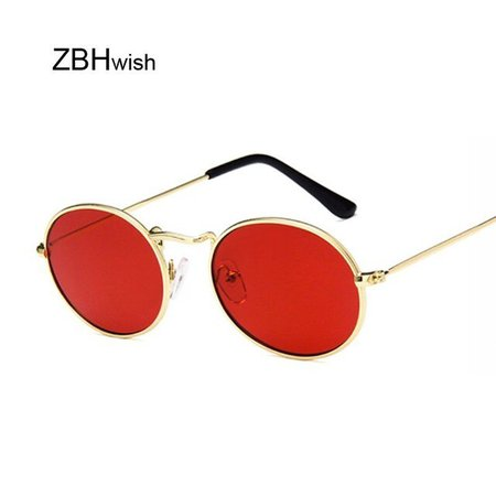 Retro Oval Sunglasses Women 2019 Luxury Brand Designer Vintage Small Black Red Yellow Shades Sun Glasses Female Oculos UV400|Women's Sunglasses| - AliExpress