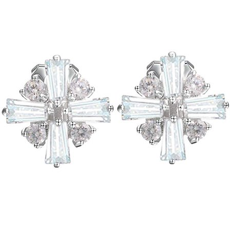 Amazon.com: Yousfs Snowflake Clip on Earrings for Kids Non Pierced Earrings Christmas Gifts: Clothing
