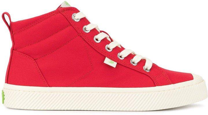 OCA High Red Canvas Sneaker
