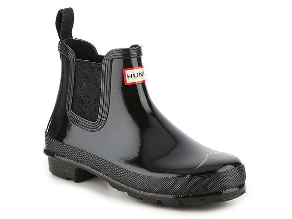 HUNTER Original Gloss Chelsea Rain Boot Women's Shoes | DSW