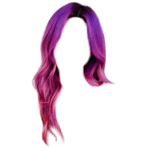 Purple and Pink Ombre Hair PNG