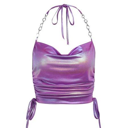 Purple Chain Halter Top | Own Saviour