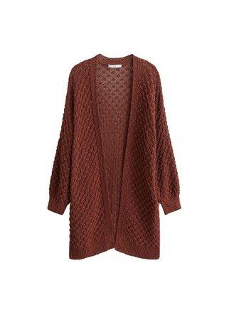 MANGO Cotton-blend cardigan