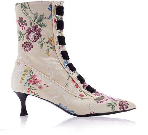 Tabitha Simmons for Jacquard Ankle Boots