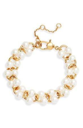 kate spade new york nouveau imitation pearl bracelet | Nordstrom