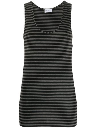 Shop Saint Laurent striped tank top with Express Delivery - Farfetch