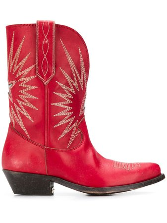 Golden Goose Contrast Stitched Cowboy Boots - Farfetch