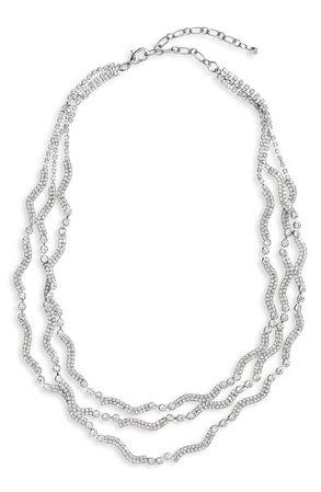 CRISTABELLE Crystal Multistrand Necklace   Nordstrom