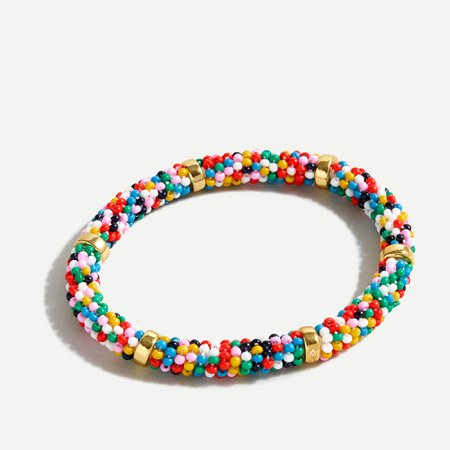J.Crew: Beaded Stretch Bracelet For Women