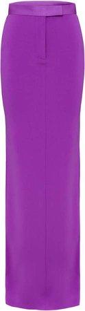 Alex Perry Gabriel Satin Crepe Maxi Column Skirt