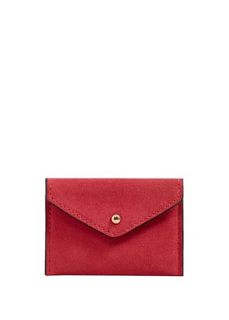 MANGO Suede purse