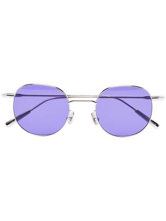 AMBUSH purple Karlheinz metal sunglasses