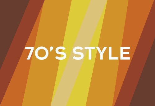 70s Style Text