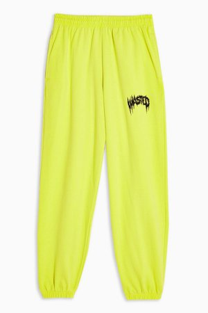 Yellow Wasted Sweatpants   Topshop