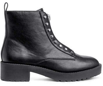 Zipped ankle boots - Black