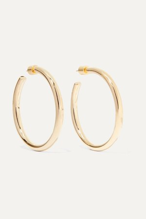 Gold Baby Lilly gold-plated hoop earrings | Jennifer Fisher | NET-A-PORTER