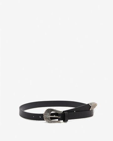 Western Textured Buckle Belt
