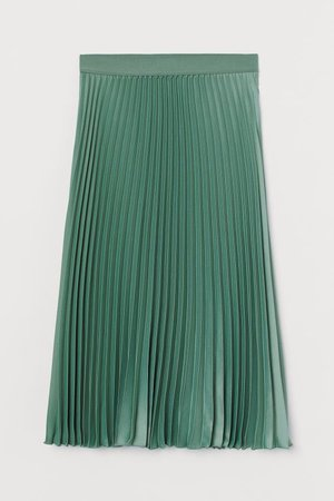 Pleated Skirt - Green - Ladies | H&M US